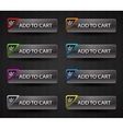 Glossy add to cart buttons set vector