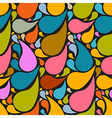 Colorful retro abstract liquid seamless pattern - vector