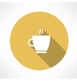 Coffee cup steam icon vector