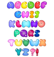 Fat bubble alphabet vector