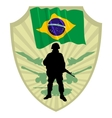 Army of brazil vector