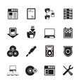 Silhouette server side computer icons vector