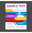 Abstract arrows geometric poster template vector