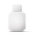 Antiseptic drugs square plastic bottle white vector