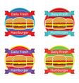 Hamburger label set vector
