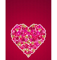 Lovely big pink heart vector