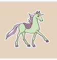 Baby horse sticker vector