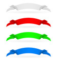 Banners set number four on white background for vector