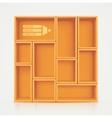 Shelves for design vector