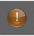 Attention wood application icons vector