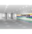 Exhibition announcement advertising invitation vector