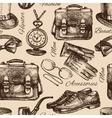 Sketch gentlemen accessories vector