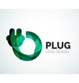 Abstract logo - plug icon vector