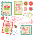 Baby girl stamp2 vector