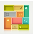Colorful shelves for design vector
