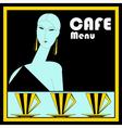 Art deco cafe menu template vector