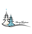 Beauty christmas tree background vector