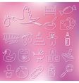 Outline baby icons vector