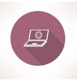 Laptop with internet icon vector