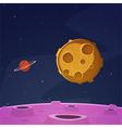 Cartoon space background vector