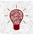 Medicine a bulb vector