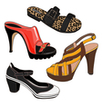 Fashion shoes set vector