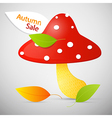 Autumn sale theme - colorful amanita vector