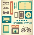 Flat hipster set of web elements vector