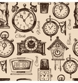 Hand drawn clocks and watches vector