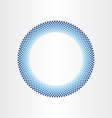 Drops of water in circle rain blue background vector