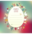 Beautiful instagram easter card vector