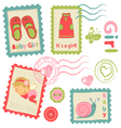 Baby girl stamps vector