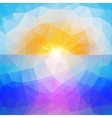 Abstract sunset background triangle design vector