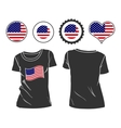 T-shirt with usa flag vector