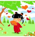 Chinese little girl vector