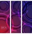 Abstract colorful concentric circle background vector