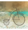 Retro bicycle on a color background vector