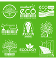 Set of ecology environment and recycling logos vector