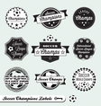 Soccer champs labels vector