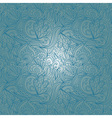 Seamless blue abstract hand-drawn waves pattern vector