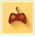 Computer video game controller joystick flat icon vector