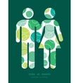 Abstract green circles couple in love vector