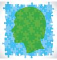 Puzzle piece design human head vector
