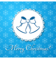 Christmas applique card background vector