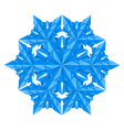 Blue paper snowflake on a white background vector