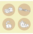 Rent icons vector