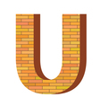 Brick letter u vector