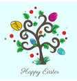 Easter tree holiday card vector