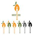 Healthy food design template vector