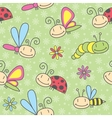 Insects pattern vector